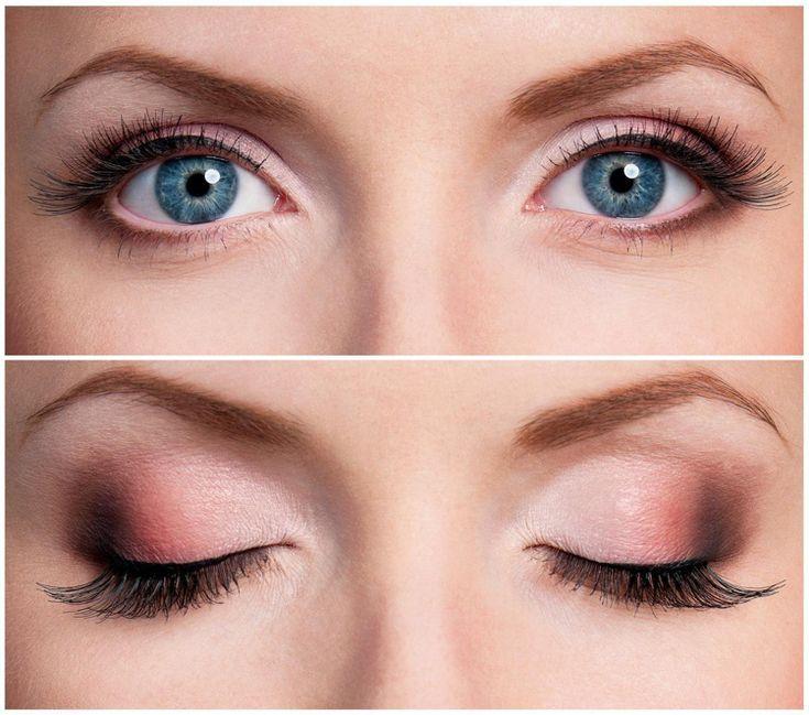 Smokey Eyes Dezent Schminken Blaue Augen Rosa Braun Beauty Makeup Make Up Anleitung Blaue Augen Schminken Makeup Fur Blaue Augen Schminkzeug