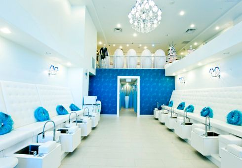 58 best alluring spa retail design images on pinterest for Acqua nail salon