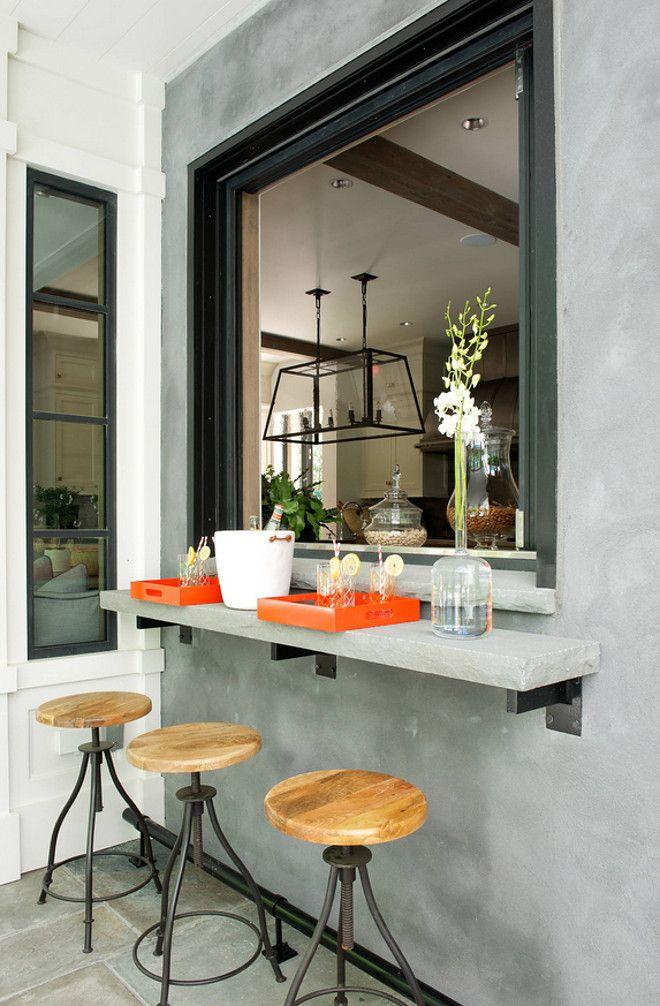 Best 25 pass through window ideas on pinterest kitchen for Kitchen window bar ideas