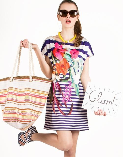 #Striped boxy #dress with flower #print! #toimoifashion #toimoi #fashion #fashionable #style #stylish #summer