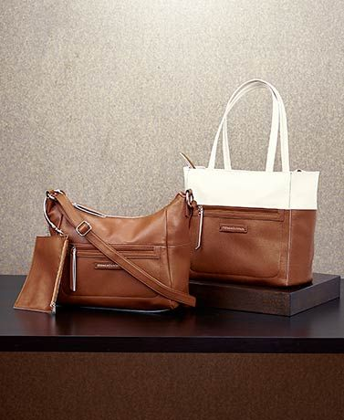 This Stone Mountain Leather Tote or Hobo purse offers you a fashionable way to carry all of your necessities every day. Its classic style is easy to pair with any outfit.