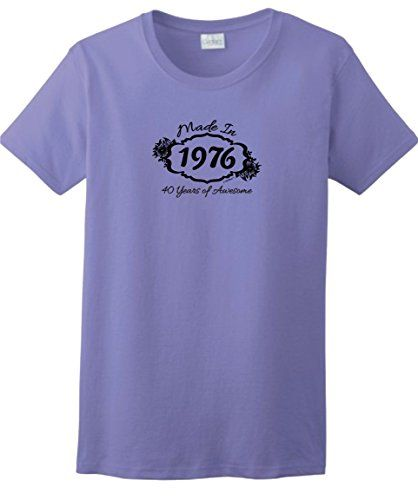 40th Birthday Gifts for Dad 40th Birthday Gift Made 1976 40 Years Awesome Ladies T-Shirt Small Violet ThisWear http://www.amazon.com/dp/B00NDE13GU/ref=cm_sw_r_pi_dp_vOQSwb0AFCD95