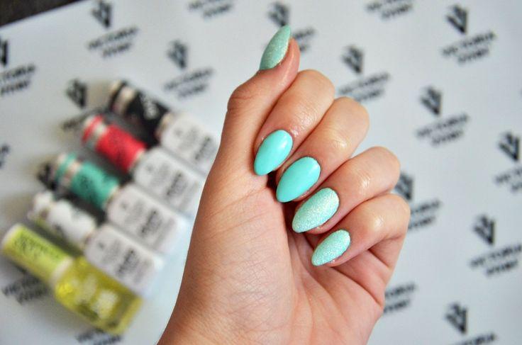 Miętowe paznokcie :)   #nails #hybrydy