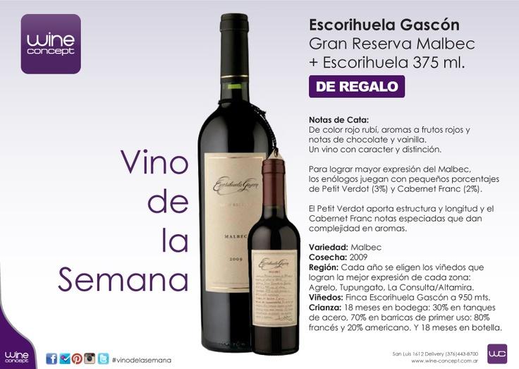 Vino de la Semana en Wine Concept Escorihuela Gascón Gran Reserva Malbec