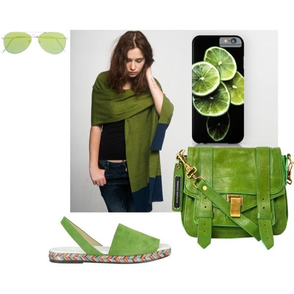 Dream green by anna-suchodolska on Polyvore featuring Balearmania, Proenza Schouler, Revo, GREEN, summerstyle, CasualChic and student