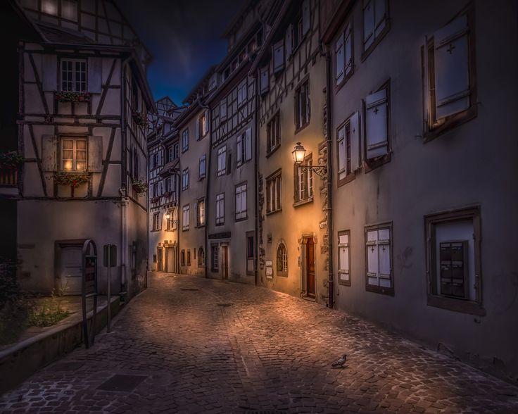 Petite Rue des Tanneurs - The street Petite Rue des Tanneurs in Colmar, France.