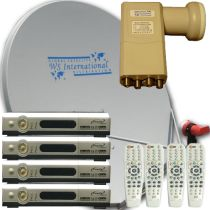 Complete Free To Air Systems. Each system includes 1 FTA Satellite Dish, 1 Digital C and Ku band Satellite Receiver, and 1 Digital Ku band LNB LNBF