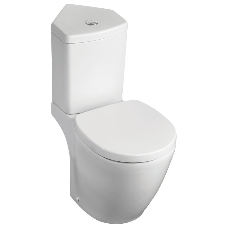 Ideal Standard Imagine Compact Contemporary Close-Coupled Corner Toilet with Soft Close Seat | Departments | DIY at B&Q