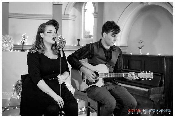 For a low-key performance at your champagne reception or during your ceremony, nothing beats the silky, full vocals and gentle guitar provided by Bird & the Bad Man. A vintage wedding must #headliner #femalevocals #guitar #music #duo #vintagewedding