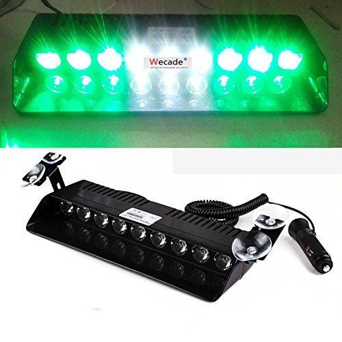 Wecade® 9 Led 9w Car Truck Strobe Windshield Dash Lights 16 Pattern Super Bright for EMS Law Enforcement Warning LED Strobe Lights (Green/White/Green) - https://www.caraccessoriesonlinemarket.com/wecade-9-led-9w-car-truck-strobe-windshield-dash-lights-16-pattern-super-bright-for-ems-law-enforcement-warning-led-strobe-lights-greenwhitegreen/  #Bright, #Dash, #Enforcement, #GreenWhiteGreen, #Lights, #Pattern, #Strobe, #Super, #Truck, #Warning, #Wecade, #Windshield #All-Green