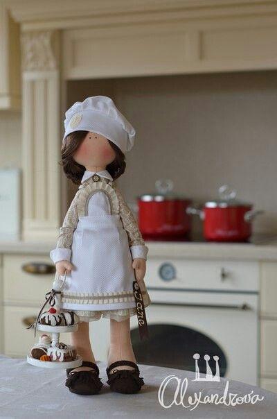 boneca de pano cozinheira