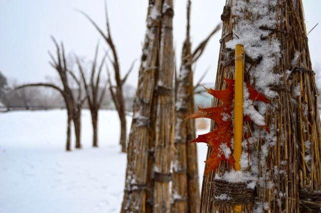 "W. Gary Smith's ""Stooks & Punes"" at the Toronto Botanical Garden, from Toronto Gardens: Let's cut Winter a little slack"