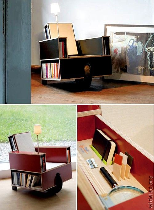 COOL!: Libraries, Book Lovers, Furniturehom Inspiration, Cool Gadgets, Bookca Chairs, Reading Chairs, Awesome Inventions, Genius Ideas, Book Chairseri