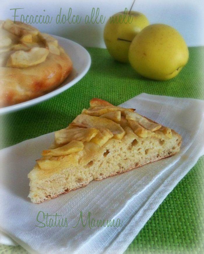 Focaccia di mele ricetta dolce con lievito madre