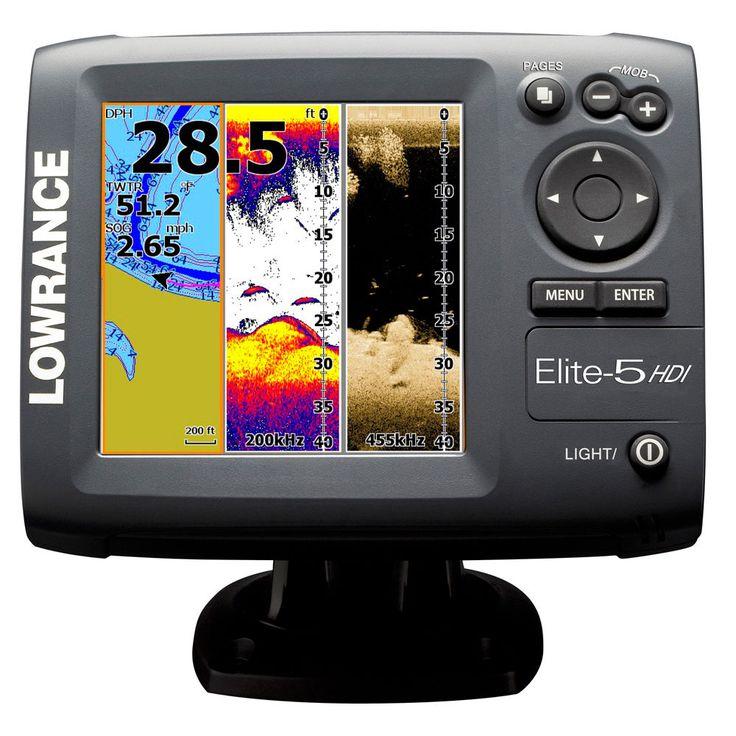 Lowrance Elite5 HDI Fishfinder Marine GPS Chartplotter 50