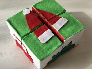 簡単手作りおもちゃ【牛乳パック工作で 6面パズルボックスの作り方】手作りクリスマスプレゼントや小学生の夏休みの自由工作にも♪パタパタパズルで遊んでみよう♪