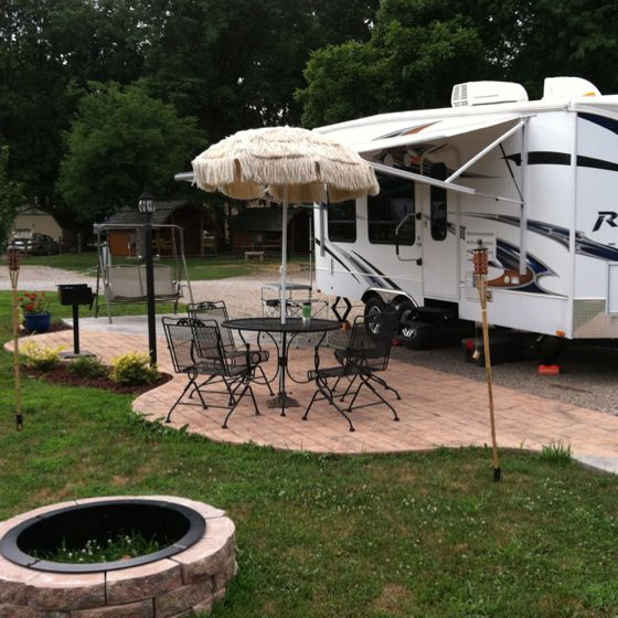 Deluxe Patio Camp Site Buckeye Lake KOA