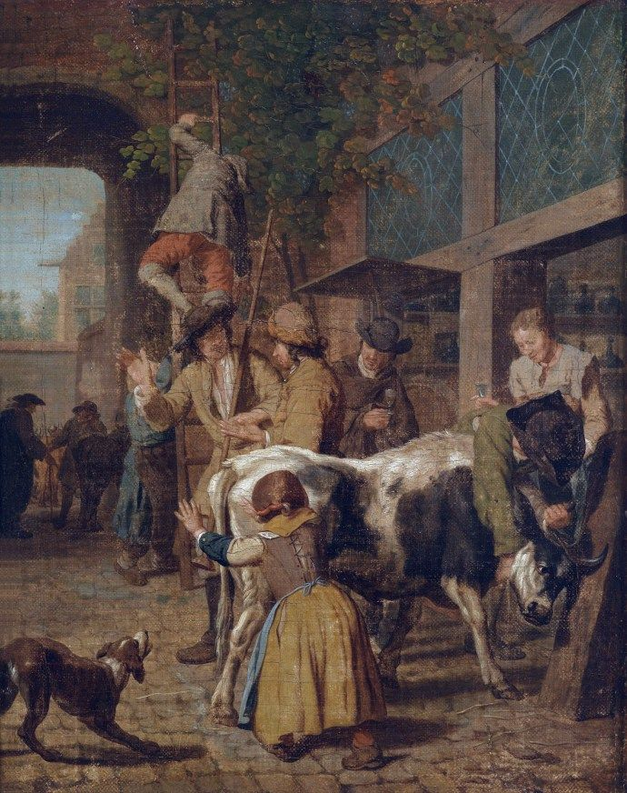 Cattle Market by Jan Josef Horemans I - mid 18th century