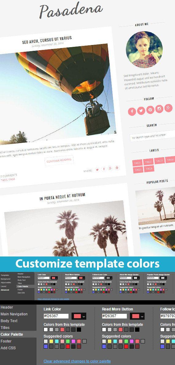 Blogger Template Premade Responsive Blogger called Pasadena by BloggerTemplate