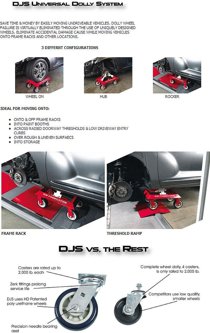 Djs fabrications car moving dolly