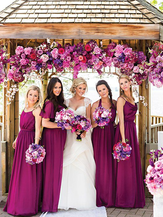 Radiant Orchid Color Palette - Floral Decor by Rachel A. Clingen Wedding & Event Design, Photographey by Rowell Photography / Wedding Blog