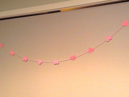 Pink Heart Garland | Felt