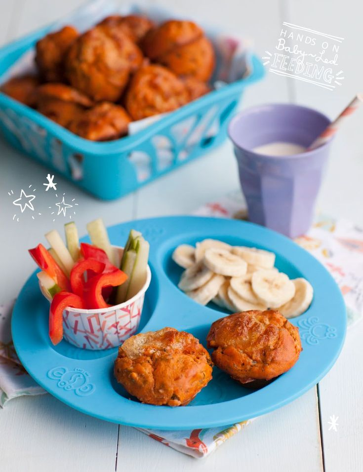 Super Healthy Pizza Muffins Baby Led Feeding a perfect baby lunch, muffins, milk and vegetables. Homemade Baby Food Recipes for baby led weaning by Aileen Cox Blundell. #FoodForBaby