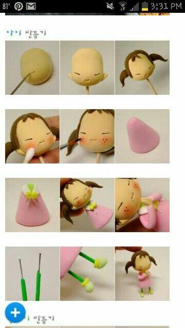 Cute little girl figurine
