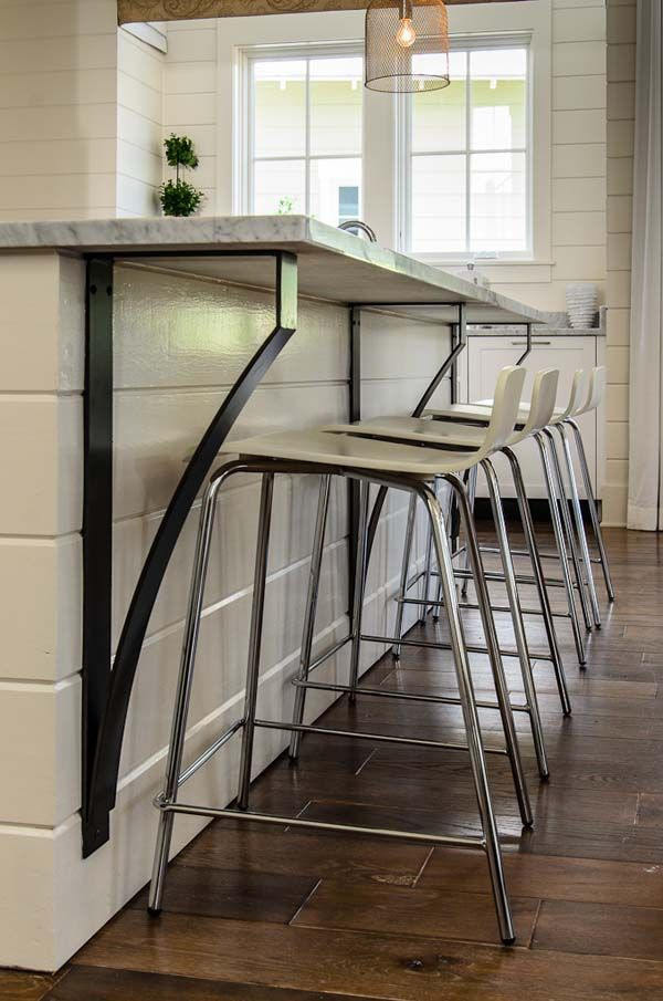 Best 25 kitchen island bar ideas on pinterest kitchen for Modern corbels for granite countertops