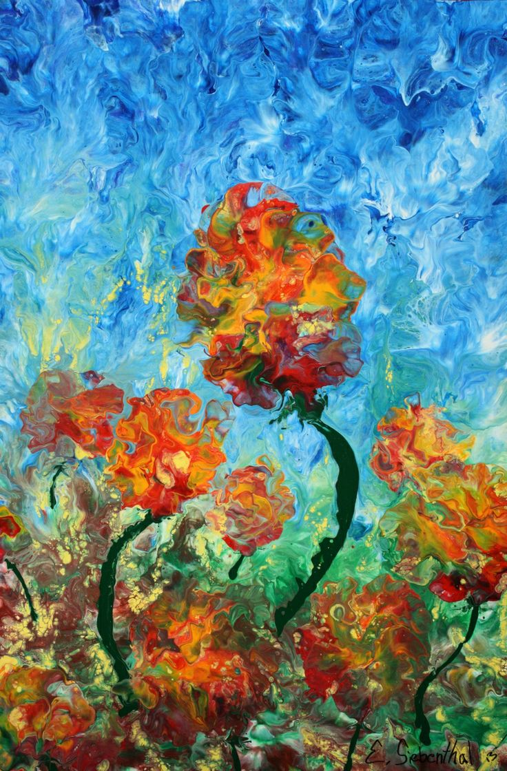 Poppy Breeze - Abstract Art - Acrylicmind.com is my site. Painting is a passion, an addiction that will not be easily overthrown. ~ Eric Siebenthal