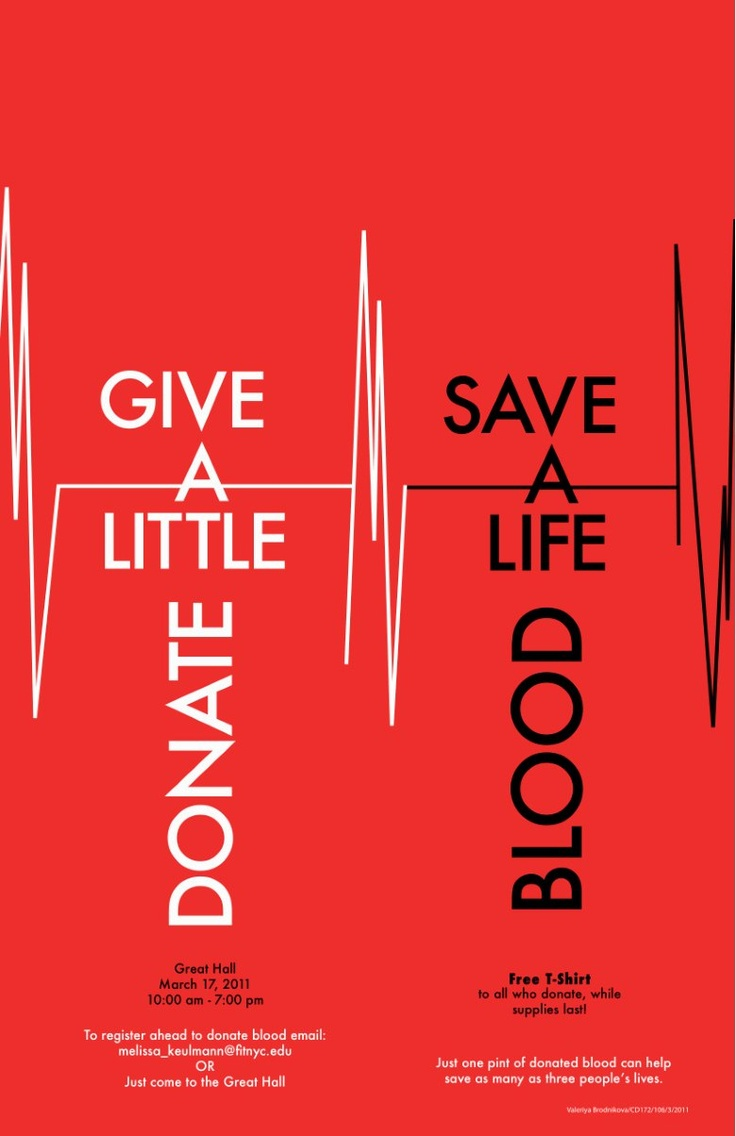 Poster design on blood donation - Poster For Blood Drive At Fit