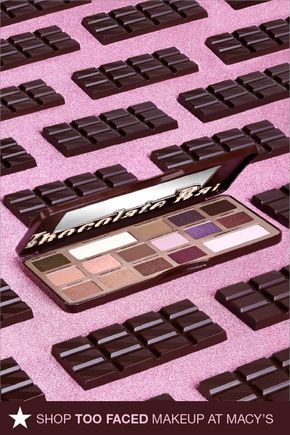 Is there anything sweeter than the Too Faced Chocolate Bar Eyeshadow Palette? These sixteen matte and shimmer shades are made with pure cocoa powder and even smell like a delicious chocolate bar. Click to shop at Macy's.