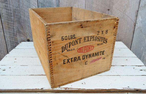 Dupont Dynamite Crate High Explosives by RelicsAndRhinestones, $49.00