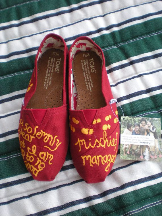 Harry Potter Toms.Fashion, Solemnly Swear, Etsy Harry Potter, Harrypotter, Cool Tom, Potter Tom, Mischief Management, Custom Tom Shoes, Nerdy Tom Shoes