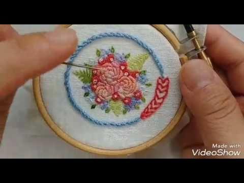 라인이 돋보이는 스티치-Portuguese knotted stitch(포루투갈 매듭 스티치) - YouTube