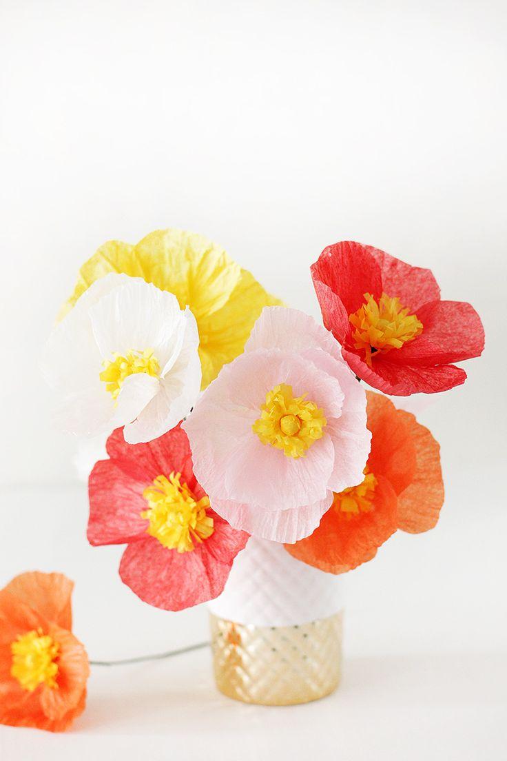 DIY: tissue paper poppy