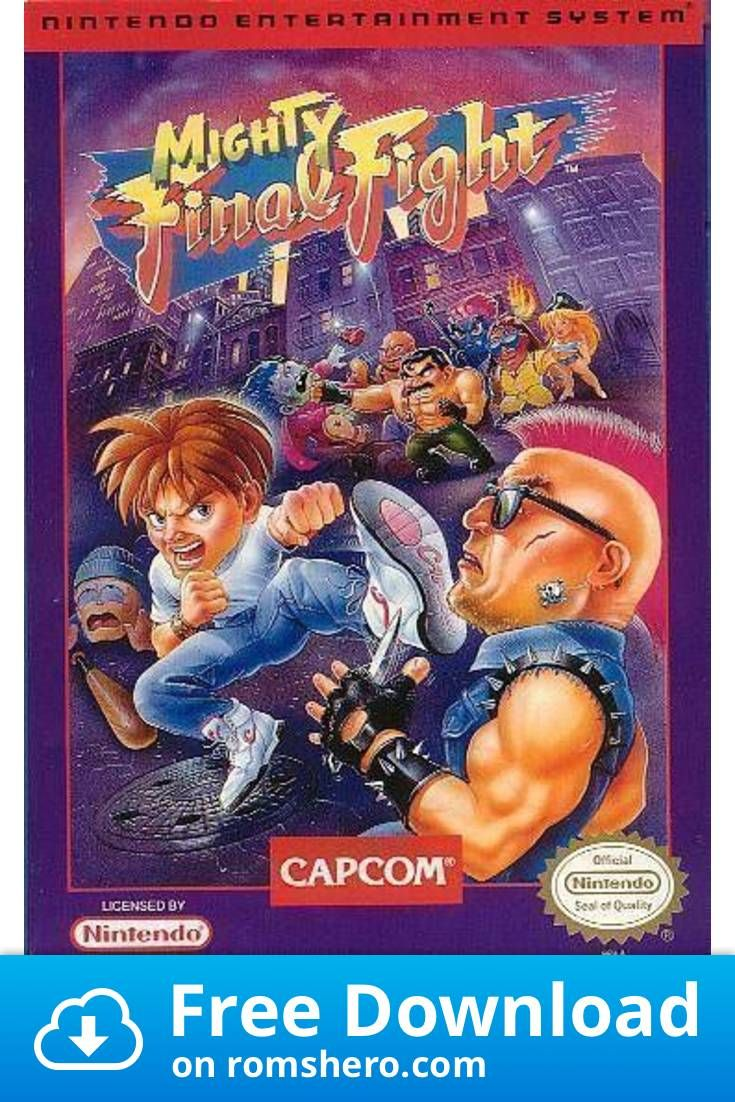 Download Mighty Final Fight Nintendo Nes Rom In 2020 Old Nintendo Games Retro Video Games Classic Video Games