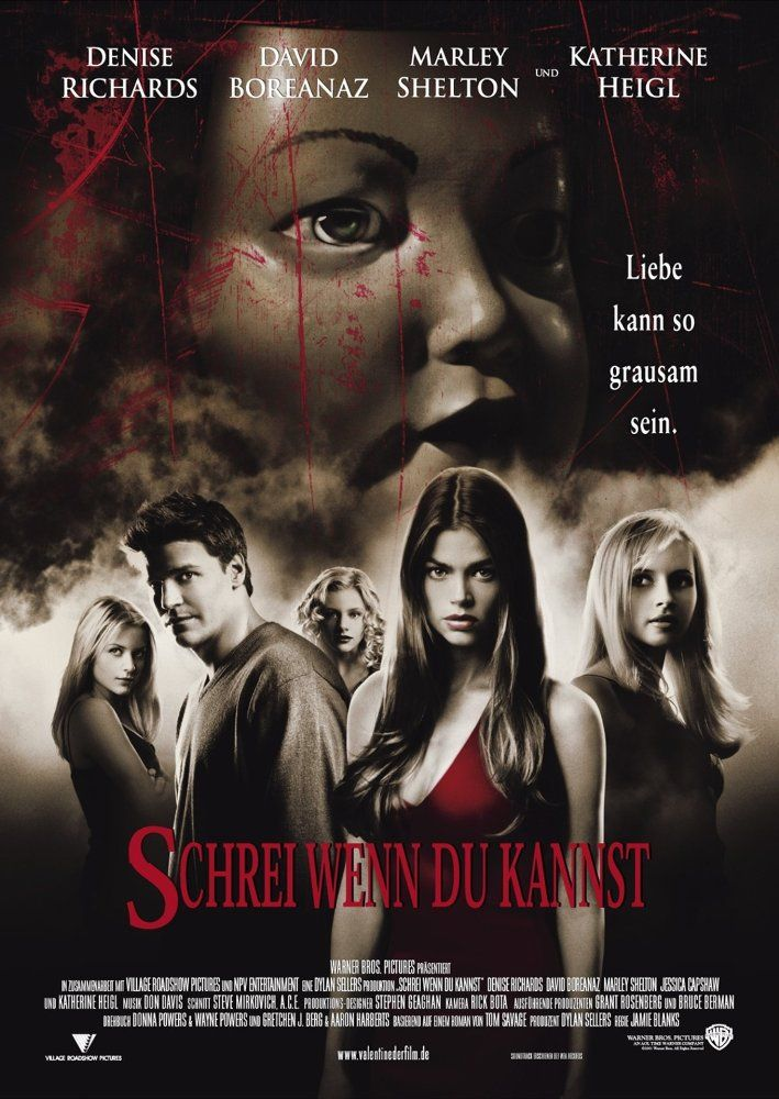 Directed by Jamie Blanks.  With Denise Richards, David Boreanaz, Marley Shelton, Jessica Capshaw. Five women are stalked by an unknown assailant while preparing for Valentine's Day.