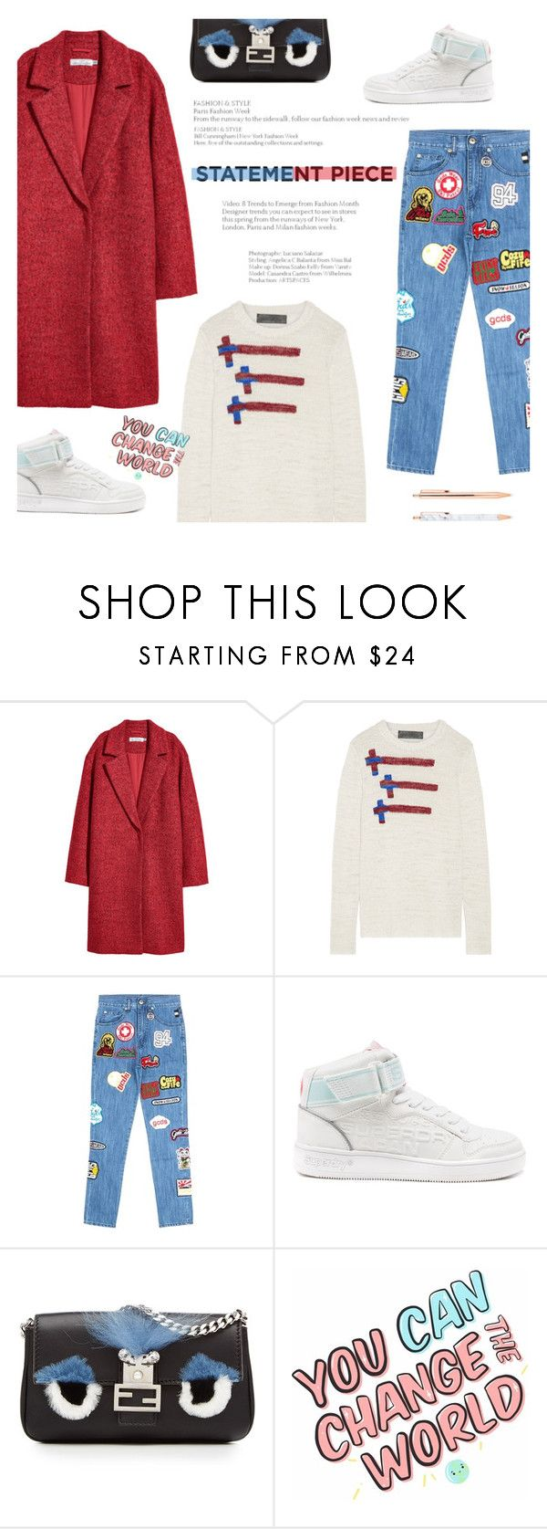 """Untitled #347"" by riennise on Polyvore featuring The Elder Statesman, GCDS, Superdry, Fendi and statementcoats"