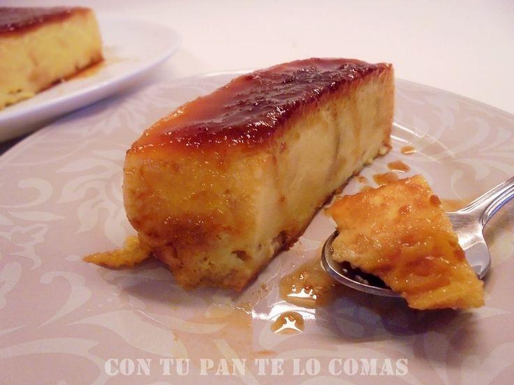 Con tu pan te lo comas: PUDIN DE MAGDALENAS Y FLAN (MICROONDAS)