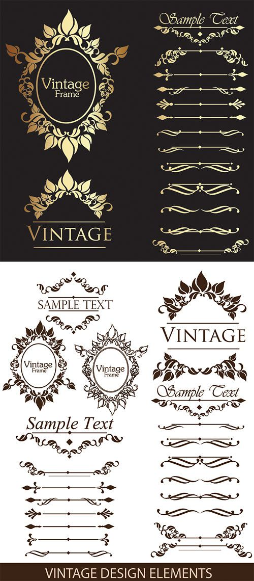 Gorgeous lace pattern vector material