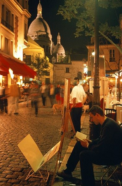 Place du Tertre recalls what Montmartre once was, a small village within the city of  Paris