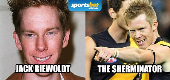 Look Alikes - Jack Riewoldt and The Sherminator - Sportsbet.com.au