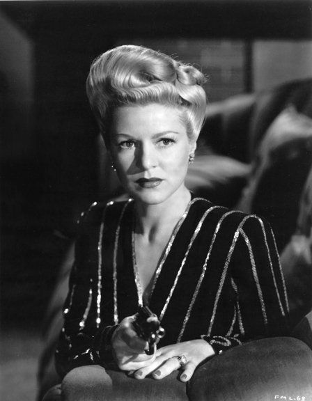 "Claire Trevor in ""Murder My Sweet"" - 1944 Claire was BADDDDD in this film!  XLNT Movie!"