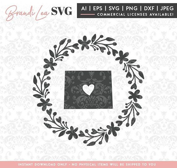 Wyoming Wreath svg, Wyoming state, Map, State, SVG, DxF, EpS, Quote SVG, Cut File, Cricut, Silhouette, Instant download, Iron Transfer