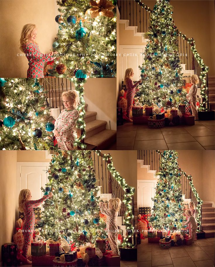 twinkling tree lights… tis the season to sparkle – in home Christmas sessions texas photographer