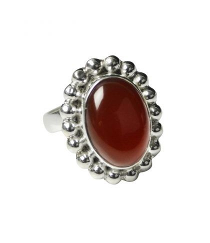 Red Onyx set in sterling silver with an open band ring fits all fingers x  http://melaniewoods.com/product/red-onyx-mexicana-gemstone-ring/