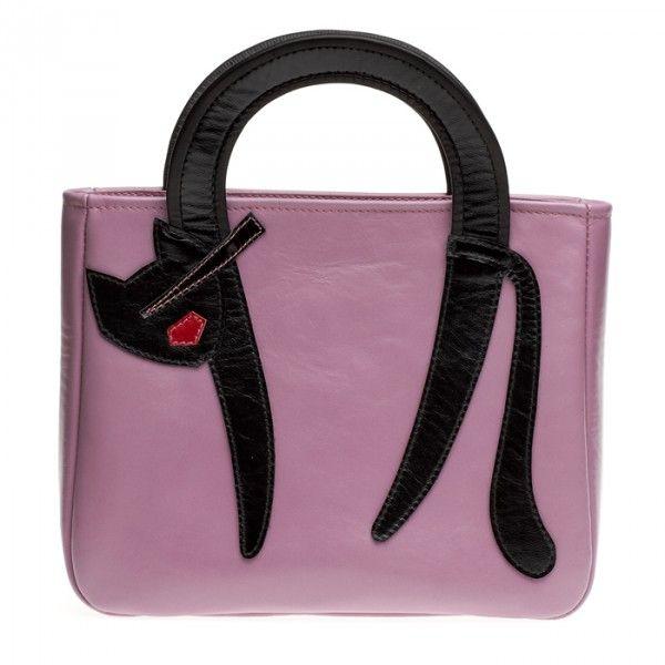 """Женская сумка """"Кошка с выгнутой спинкой"""", сиреневая"""