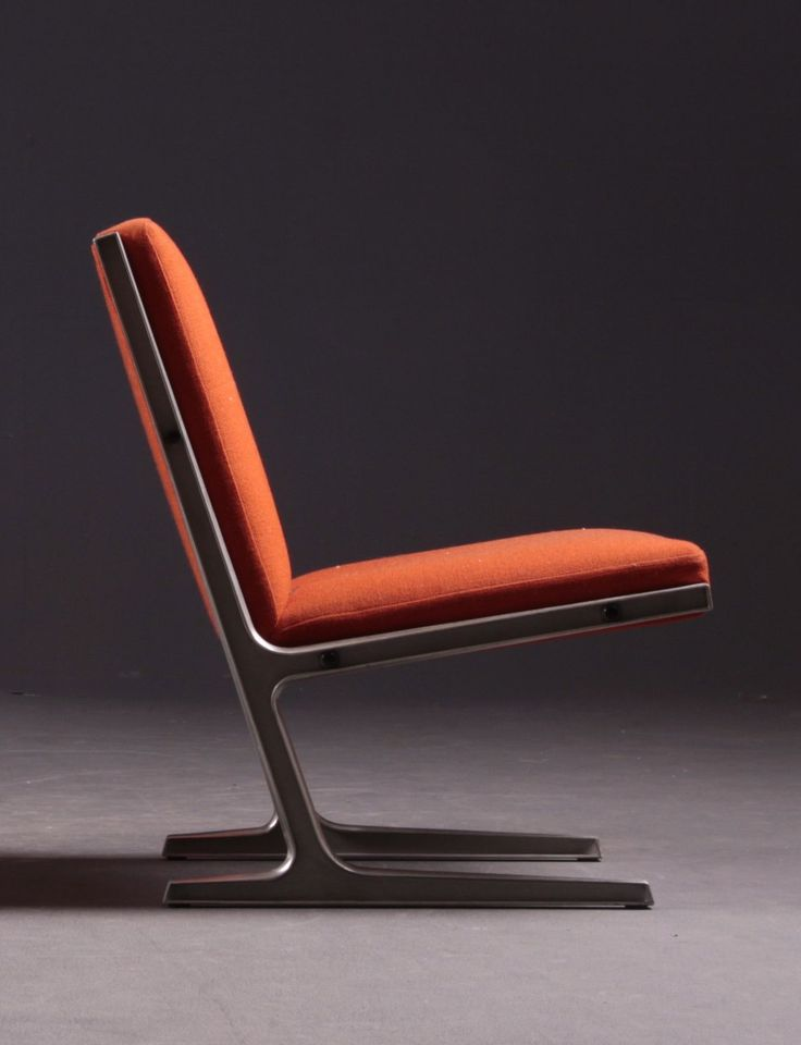 Ditte and Adrian Heath; Steel Frame Lounge Chair for Cado, 1960s. #LoungeChair