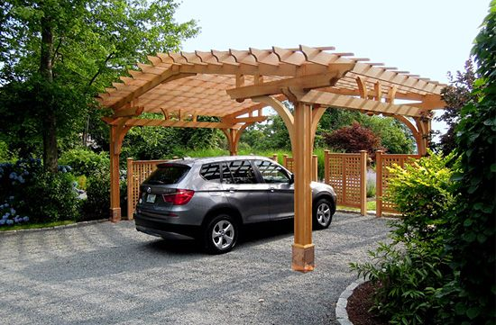Best 25 pergola carport ideas on pinterest carport for Carport landscaping ideas